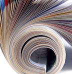 Litho printed magazine
